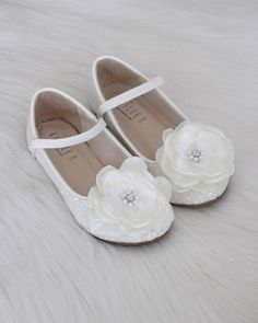 205 best kailee p shoes flower girl shoes images on pinterest in girls shoes white rock glitter maryjane ballet flats with silk flower mightylinksfo