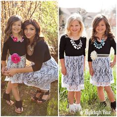 Ryleigh Rue Clothing by MVB - Spring 3/4 Sleeve Black and White Lace Dress *PRE-SALE*, $38.00 (http://www.ryleighrueclothing.com/new/spring-3-4-sleeve-black-and-white-lace-dress-pre-sale.html/)