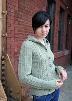 Cabled Cardigan Pattern - Modern Knitting Pattern - Chic Knits Cassidy - Downloadable Knitting Patterns