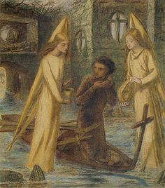 The Quest of the Holy Grail, c. 1855-1857, by British artist Elizabeth Siddall (1829-1862)