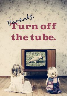 Studies show the negative side effects of TV watching on kids. Physical and emotional issues, nature deficit disorder, aggression and so on. #parenting #media #television