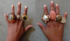 Statement rings from buttons