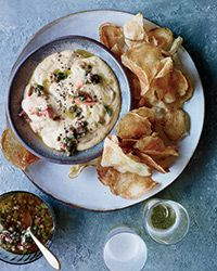 Smoked Trout Dip with Sweet Onion Vinaigrette  Recipe on Food & Wine