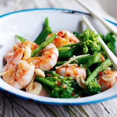 A speedy, low-calorie prawn stir-fry recipe with the zesty, spicy flavours of south-east Asia.