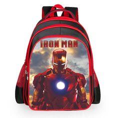 2017 New Children School Bags For Girls Boys High Quality Kids baby bag 3D  Cartoon Iron man spider-man Design Backpack Mochila 8b6d1006619fd