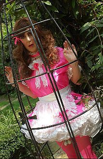 Sissy spends the afternoon in the garden.