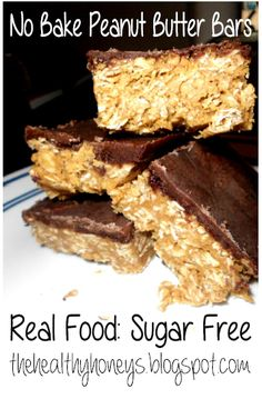 No-bake Peanut Butter Bars - The Healthy Honeys