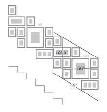 gallery wall going up stairs - Google Search