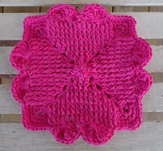 DISHCLOTH WITH HEART - free pattern