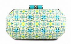 Purse covered in polymer clay kaleidoscope pattern cane by Anastasiya Arinovich. Еще сумочки