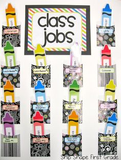 Use CTP's BW Collection Library Pockets as a class jobs wall!