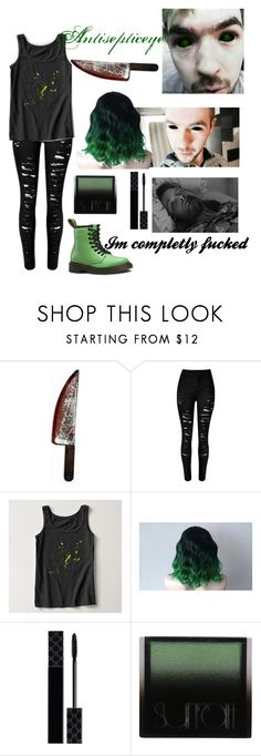 """""""Antisepticeye"""" by septiplier-supporter ❤ liked on Polyvore featuring Dr. Martens, Forum Novelties, Gucci and Surratt"""