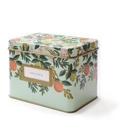 Citrus Floral Tin Recipe Box by Rifle Paper Co.