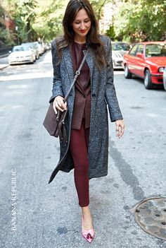 A fashion favorite. This menswear inspired coat is decidedly for the girls. Long, lean textured tweed, beautifully lined and perfectly tailored to cover all your fall to winter looks.