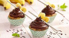 Muffiny bananowe z czekoladą #lidl #przepis #banan #czekolada #muffiny