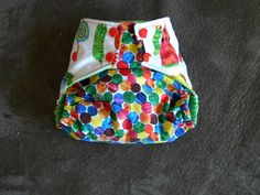 Very Hungry Caterpillar Bamboo onesize AIO cloth