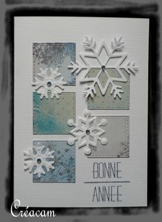 Clean (lift) Die Cut Christmas Cards, Simple Christmas Cards, Xmas Cards, Diy Cards, Handmade Christmas, Holiday Cards, Snowflake Cards, Hand Made Greeting Cards, Christmas Drawing