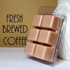 This scented wax melt is handmade with over 2 oz soy/paraffin wax blend. t is scented with Fresh Brewed Coffee, the delicious aroma of freshly brewed coffee with light, chocolaty overtones.