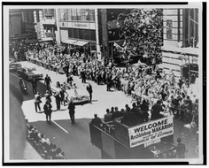 Vintage June 8, 1962, Archbishop Makarios of Cyprus ticker tape parade, NYC, www.RevWill.com