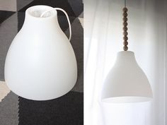 DIY or DIE: Gör om din Ikea-lampa. Put wooden pearls on the cord! I would spray paint them first though.