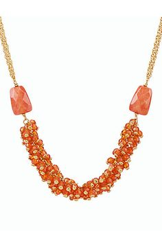 Faceted Cluster-Bead Necklace