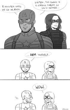 Captain America (MCU) - Steve Rogers x Bucky Barnes - Stucky fanart Marvel Jokes, Marvel Funny, Marvel Dc Comics, X Men, Bucky And Steve, Steve Rogers Bucky Barnes, Dc Memes, The Avengers, Stucky