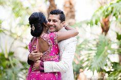 indian wedding bride groom first look http://maharaniweddings.com/gallery/photo/12814