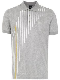 Compre Boss Hugo Boss Camisa polo com estampa. - Men's style, accessories, mens fashion trends 2020 Printed Polo Shirts, Polo T Shirts, Golf Shirts, Hugo Boss, Silk Screen T Shirts, Polo Shirt Design, Men's Shirts And Tops, Golf Attire, Shirt Designs