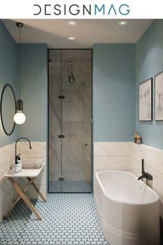 Minimalist Bathroom Design, Bathroom Interior Design, New Bathroom Ideas, Bathroom Inspiration, Simple Bathroom, Bathroom Modern, Beautiful Small Bathrooms, Bad Inspiration, Contemporary Bathroom Designs