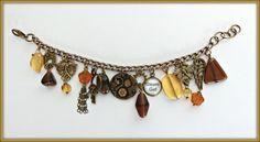 Steampunk bracelet, Gear bracelet, Steampunk gear bracelet, Steampunk dragonflies bracelet, Steampunk gift, Steam girl bracelet