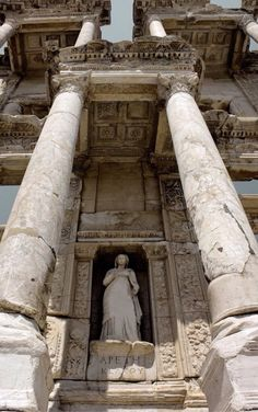 The library of Celsus is an ancient Roman building in Ephesus, Anatolia Source: avgustaoktavia