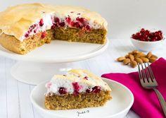 Currant meringue almond cake. Almond Cakes, I Foods, Paleo, Nutella, Sandwiches, Meringue, Blog, Cooking Food, Recipes