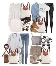 """""""Inspired with a longchamp backpack"""" by nikka-phillips ❤ liked on Polyvore featuring mode, Clu, Longchamp, Proenza Schouler, Peter Millar, Mudd, rag & bone, byblos, Yves Saint Laurent en J Brand"""