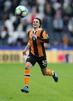 Lazar Markovic Photos Photos - Lazar Markovic of Hull City in action during the Premier League match between Hull City and West Ham United at KCOM Stadium on April 1, 2017 in Hull, England. - Hull City v West Ham United - Premier League