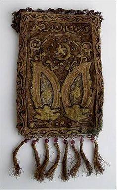 Ottoman Era purse  pinned from http://urun.gittigidiyor.com/antika-sanat/mukemmel-osmanli-altin-amp-ipek-islemeli-kese-37498192#product-information