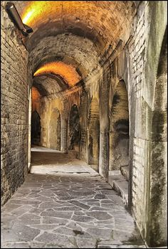 Corridors of Time, Arena at Nimes, France (constructed between 90-120 AD) | Quotes | Pinterest | Corridor, France and Ads