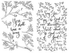 5 Page Printable PDF coloring pages adult coloring by StxCreations