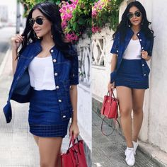 Qual seu look para esse sábado? Aposte em um look confortável e capriche nos acessórios!  #oticaswanny #rayban #lookdodia Classy Outfits, Pretty Outfits, Stylish Outfits, Cute Outfits, Kpop Outfits, Skirt Outfits, Fashion Outfits, Womens Fashion, Elegant Outfit