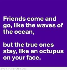 True friends= Octopi