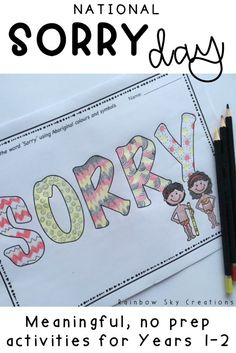 Home :: Subjects :: The Arts :: Indigenous Language & History :: Year Sorry Day - Reconciliation Week Activity Pack Aboriginal Education, Aboriginal People, Aboriginal Art, School Resources, Teaching Resources, Teaching Ideas, Educational Activities, Activities For Kids, National Sorry Day