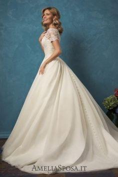 Amelia Sposa Short Sleeves A-line Wedding Dresses Alyssa3