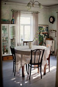Rain Washed Soul ((via (64) Sweet cottage breakfast table in the...)