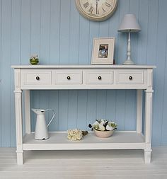 White Hallway Console Table pinmel h on cottage | pinterest | white console table, console