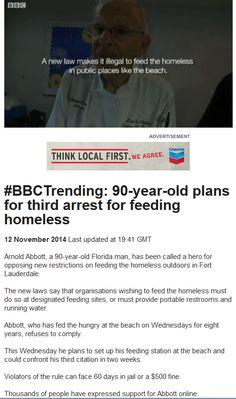 Arrested for feeding the homeless!