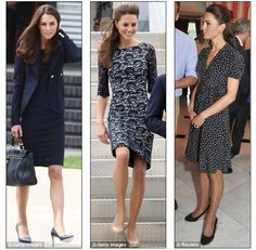 If I could own any dress of Princess Catherine's, it would be the dress in the middle of this selection.