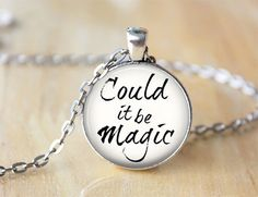 Could it be Magic Music Lyric Necklace by ShakespearesSisters, $9.00 Barry Manilow Lyrics