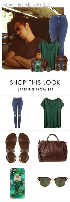 """""""Visiting friends with Seb"""" by thatweirdgirlkris ❤ liked on Polyvore featuring Sebastian Professional, Topshop, H&M, Rockmafia, Casetify, Rayban, imagine, preference, sebastian and SebastianStan"""