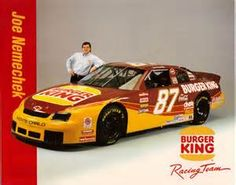 #87 Burger King Chevy, front roe Joe! #OLDSCHOOLNASCAR
