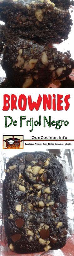 Brownies De Frijol Negro | Receta De Brownies Sin Harina Aqui la Receta paso a paso ► #QueCocinar