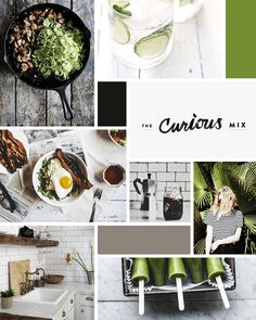 I'm so excited to be sharing this moodboard with you today! Moodboards aren't typically part of my design process, but I've recently revamped things and I'm hop Web Design, Blog Design, Herb Shop, Leaflet Design, Book Design Layout, Graphic Design Inspiration, Mood Boards, Branding Design, Fresh